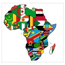 Flags of Africa Poster