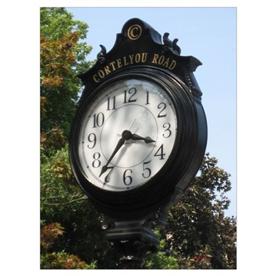 CORTELYOU ROAD CLOCK Poster