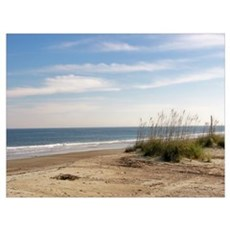 Tybee Island Oceanfront Savannah GA Poster