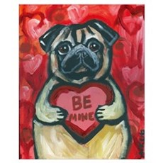 Pug Be Mine~2 Framed Print