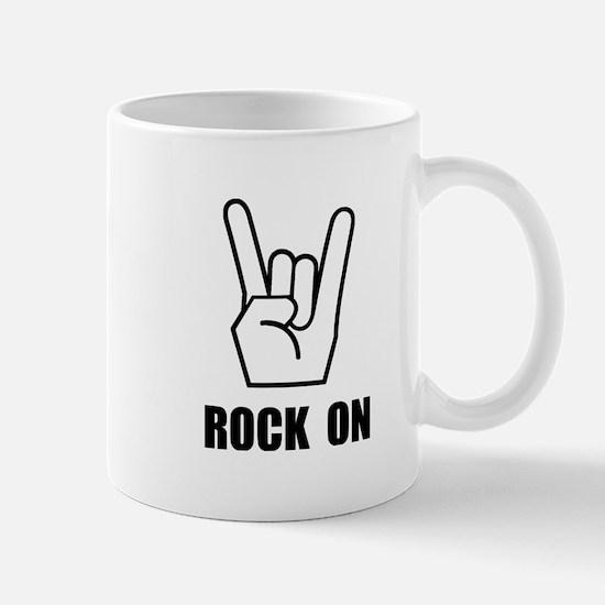 Rock On Sign Mug