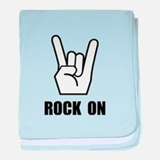 Rock On Sign baby blanket