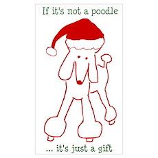 Holiday Poodle Dog Poster