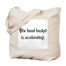 hand basket accelerating Tote Bag