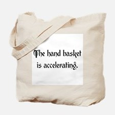 hand basket accelerating Tote Bag