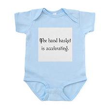 hand basket accelerating Infant Bodysuit