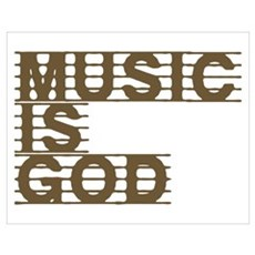 Music Is God Poster