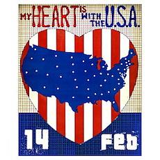 True American Valentine Poster