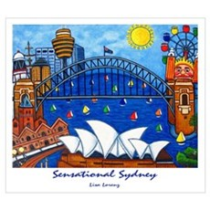 Sydney Painting On Wall Art Framed Print