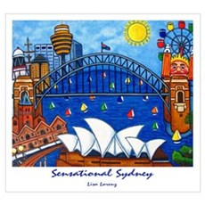Sydney Painting On Wall Art Poster