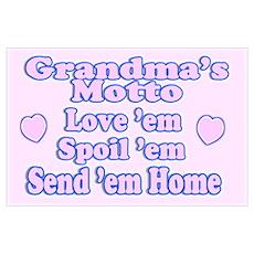Baby Grandma's Motto Poster