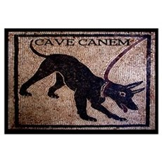 """Cave Canem"" [Pompeii] Canvas Art"