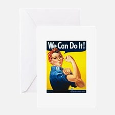 Rosie We Can Do It Greeting Card