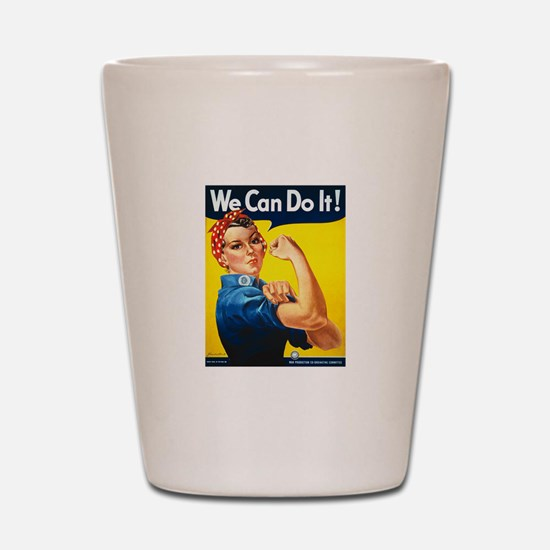 Rosie We Can Do It Shot Glass