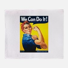 Rosie We Can Do It Throw Blanket