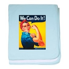 Rosie We Can Do It baby blanket