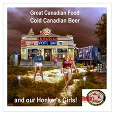 Honker's Canadian on the Beach Poster