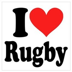 I Love Rugby Poster