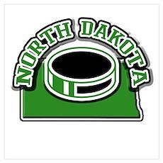 North Dakota Hockey Poster