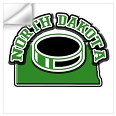 North Dakota Hockey Wall Decal