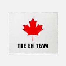 Canada The Eh Team Throw Blanket