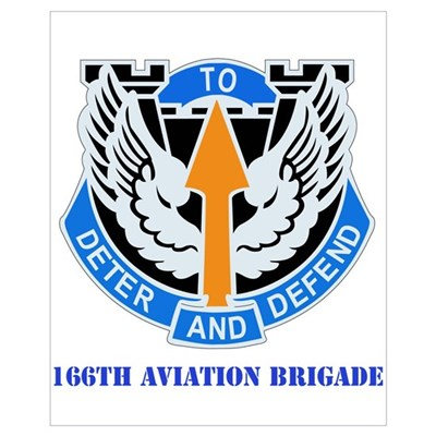 DUI - 166th Aviation Brigade with Text Framed Pane Canvas Art