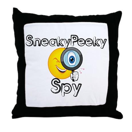 Sneaky Peeky Spy Throw Pillow