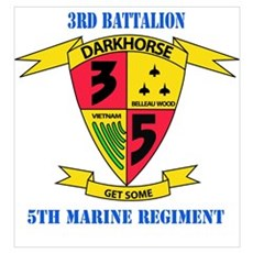 3rd Battalion 5th Marines with Text Poster