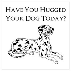 Dalmatian have you hugged you Poster