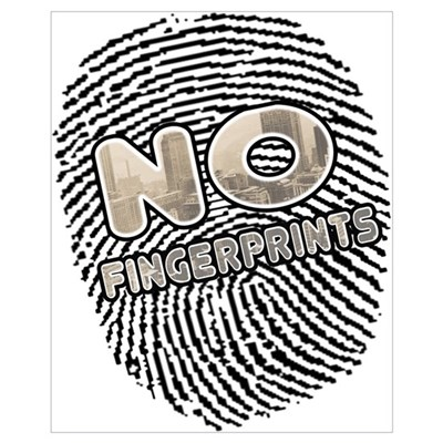 No Finger Prints - T-Shirt Canvas Art