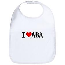 I Heart ABA Bib