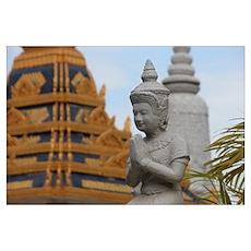 Royal palace, Phnom Penh Poster
