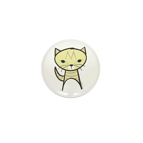 Tabby Cat Mini Button