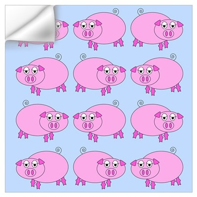 Cartoon Pigs 03 Wall Decal