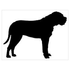 Bullmastiff Dog Breed Poster
