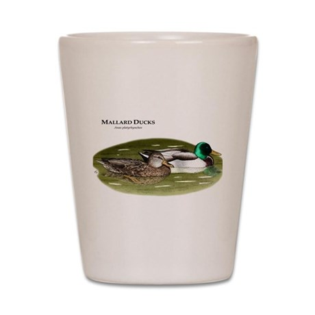 Mallard Ducks Shot Glass