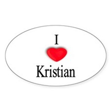 Kristian Oval Decal