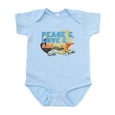Peace & Love & ABA Infant Bodysuit
