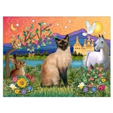 Siamese (1) in Fantasy Land Canvas Art