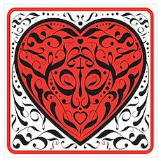 Fancy Red Heart Poster