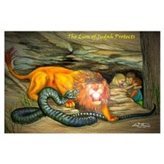 Lion of Judah Protects Poster
