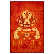 Vintage Lucha Poster