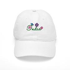 India Flowers Baseball Cap