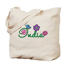 India Flowers Tote Bag