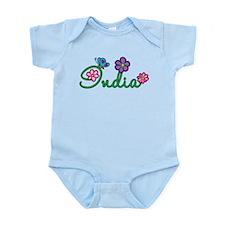 India Flowers Infant Bodysuit