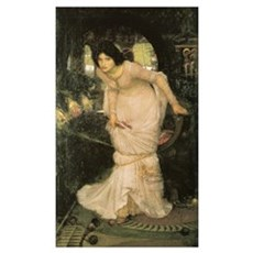 The Lady of Shalott Looking a Poster
