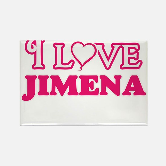 I Love Jimena Magnets