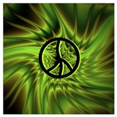 Green Peace Canvas Art