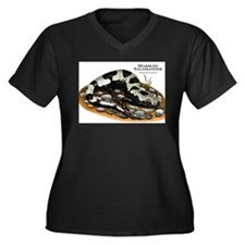 Marbled Salamander Women's Plus Size V-Neck Dark T