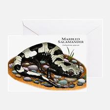 Marbled Salamander Greeting Card